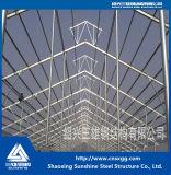 Construcción del braguero de la estructura de acero para el almacén animal