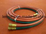 Boyau jumeau de PVC de soudure pour l'oxygène et l'acétylène