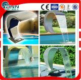 Fontana di acqua dell'interno curva della piscina della parete dell'acciaio inossidabile