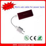 USB 2.0 aan de Kabel van de Micro- Last van usb- Gegevens voor de Bank van de Macht