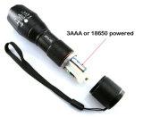 Innen heraus CREE T6 summen die nachladbare LED Taschenlampe laut, die durch 18650 oder 3AAA angeschalten wird