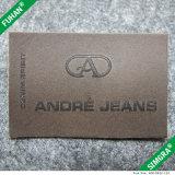 Etiket van het Leer van de douane het Echte voor Jeans