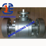 Válvula de bola de brida neumática API6D acero forjado 3PC Cuerpo