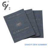 Étiquette d'étiquette et de cuir de PVC d'accessoires de vêtement de Chaoyi et carte d'unité centrale