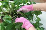 Цветастая перчатка работы полиэфира при покрынная ладонь PU (PN8007)