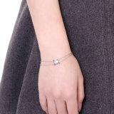 925 de echte Juwelen van de Charme van de Armband van de Keten van de Rij van Mutil van de Armband van het Staal Echte Zilveren