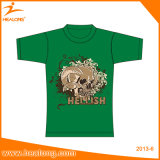Healong kundenspezifisches Qualitätsbaumwollbildschirm-Drucken-Polo-Großhandelst-Shirt für Männer des runden Stutzens