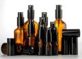Bernsteinfarbige quadratische Glastropfenzähler-Flasche, wesentliches Öl-Flasche