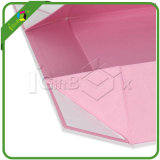 Caixa de presente de papel de dobramento recicl luxuosa extravagante nova do bloco liso