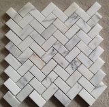 Mattonelle di mosaico di pietra di marmo di Calacatta