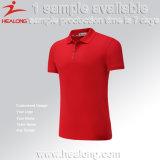 Healong tout modèle fait sur commande de T-shirt de polo d'homme de sublimation de logo