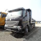 중국 Sinotruk HOWO 덤프 트럭 A7 팁 주는 사람 트럭 8X4 팁 주는 사람
