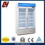 Congeladores de cristal verticales de la visualización de la puerta
