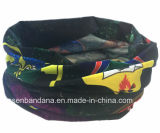 I prodotti della fabbrica hanno personalizzato la sciarpa giallo cuoio multifunzionale del tubo elastico del collo di Microfiber stampata disegno