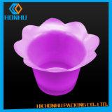 Cadre meilleur marché d'empaquetage en plastique de fleurs de Placer-Dessus