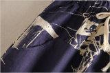 Saia da régua da parte dianteira de Cotton&Linen da Elevado-Cintura do estilo de Japão com laço