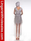 女性のHalloweenのパーティー向きのドレスのたたりの美の幻影の精神の衣裳