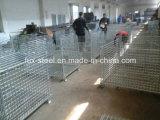 Gabbia accatastabile del pallet della maglia del filo di acciaio del magazzino/gabbia di memoria