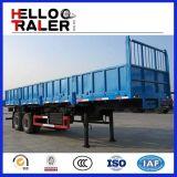 3半車軸側面の塀のトレーラー50t Bulkerの貨物トラックのトレーラー