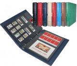 Kundenspezifisches ledernes Stempel-Album, Papierfoto-Feld, Foto-Alben, CD Halterung, Holzrahmen, Karte, die Album (005, sammelt)