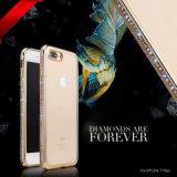 o iPhone 6s/6plus galvaniza com a caixa transparente do telefone móvel da broca TPU (XSDD-039)