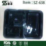 Wegwerfmittagessen-Kasten-verdickter Plastikdeckel rechteckige 3 für Großverkauf