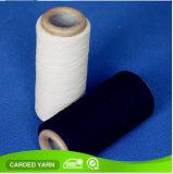 Hilado mezclado poliester negro del algodón de Nm34s Nm40s para el calcetín que hace punto
