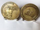 Moneda antigua de la medalla de Juan Weston del oro