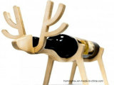 Factory Outline Wholesales Solid Wood Unique Animal Shape Wine Holder