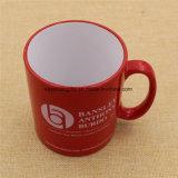 Taza de cerámica barata de encargo de la taza de café del té de la porcelana con insignia de la impresión