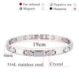 Bracelet en germanium magnétique en acier inoxydable 316L à haute qualité