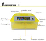 Incubadora pequena automática cheia para 132 ovos de codorniz