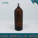 200ml de slanke Amber Lege Kroonkurk van de Fles van het Glas van de Essentiële Olie
