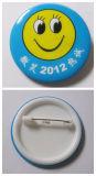 Divisa de encargo del botón de la insignia de la sonrisa de la impresión para los regalos de la promoción