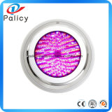 10W 12V luz subacuática RGB LED 1000lm impermeable IP68 fuente piscina Lights16 cambio de color + 24 teclas IR controlador remoto