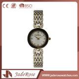 Reloj clásico redondo del acero inoxidable de la dimensión de una variable de la dial de las señoras
