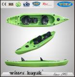 2+1 pêche en plastique de la famille LLDPE de portées voyageant le kayak oisif