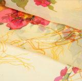 Tela Chiffon de seda impresa hermosa