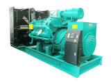 주요한 산출 900kw 1125kVA는 디젤 엔진 발전기 세트를 비바람에 견디게 한다