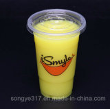 Transparentes Fruchtsaft-heißes Getränk-heißes Getränk-Cup