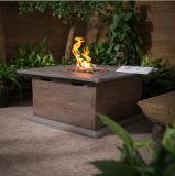 il giardino basso di legno quadrato della Tabella della pietra della fibra di vetro 42inch apprezza la Tabella del pozzo del fuoco di gas