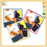 Cartão de cabeçalho de papel duro impresso personalizado de cor completa OPP Poly