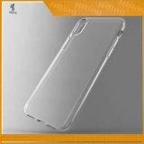 Altas cajas suaves transparentes claras del teléfono móvil del cristal 1.2m m TPU para el iPhone 8 casos