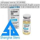 Polvo inyectable de aumento de la hormona de Sustanon 250 de la testosterona de los esteroides del funcionamiento