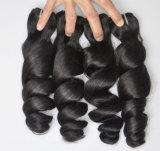Les cheveux humains desserrés de l'onde 100% de cheveu de la prolonge 105g (+/-2g) /Bundle de cheveu brésilien normal de travail non transformé de Vierge tissent la pente 8A