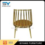 Cadeira de casamento de ouro para móveis de hotel com tecido coberto