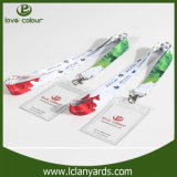 Atacado Clear PVC Name ID Card Badge Holder with Lanyard