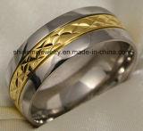 형식 보석 검정 새로운 디자인 티타늄 반지 (TR1829)
