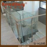 O corrimão residencial do vidro Tempered de Inox projeta os trilhos do balcão (SJ-H1740)