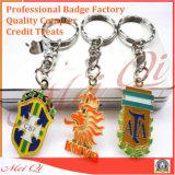 Metallo su ordinazione Keychain degli elementi promozionali del regalo/anello portachiavi del metallo